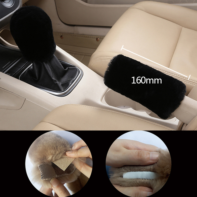 Gear Shift Collar Cover Car Handbrake Grips Hand Brake Covers Parking Brake Cars Accessories For Girls Auto Universal Decoration