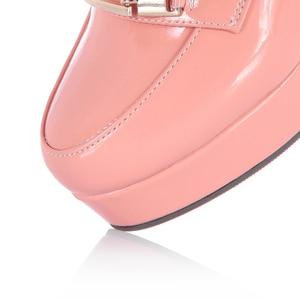 Image 5 - Rizabina 送料無料女性のハイヒールの靴女性のファッションプラットフォームパンプスドレスオフィス女性のセクシーな靴 P11125 サイズ 34 43