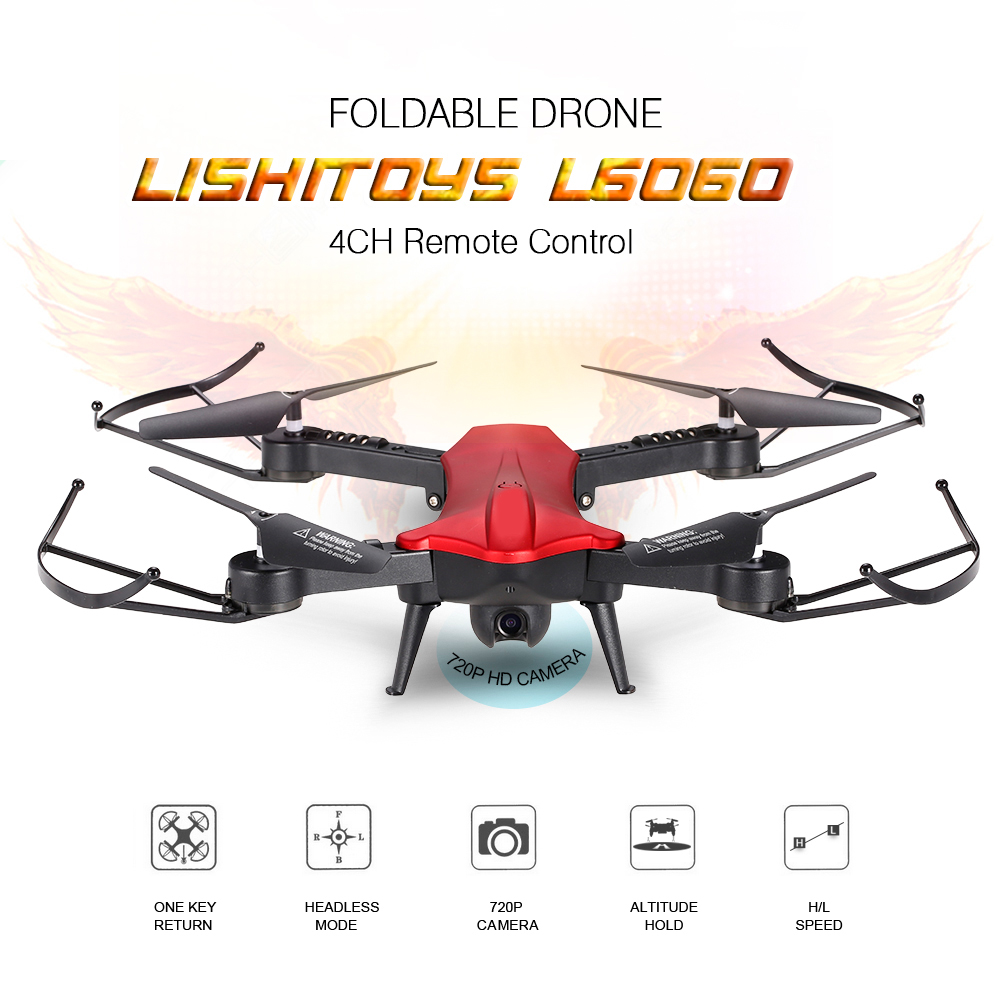 2.4 GHz Drone Vouwen 4 Kanaals 3-Axis Gyro WIFI FPV 720 P Groothoek - Camera en foto