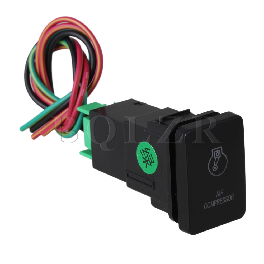 BQLZR Green and Red Pattern-NT-2 Air Compressor Toggle Switch for TOYOTA New Style bqlzr dc12 24v black push button switch with connector wire s ot on off fog led light for toyota old style