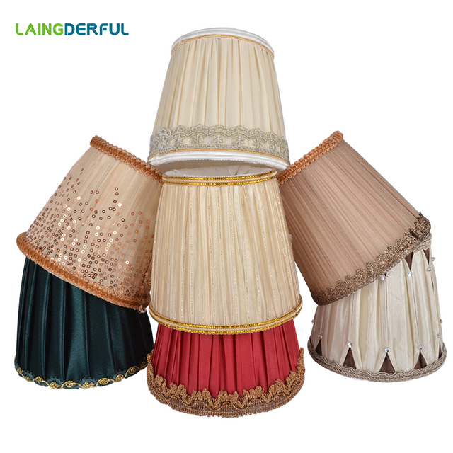 Fabric Shade Lamp Cover Crystal Candle Pendant Lights Special Lampshade Morden Exquisite Art Deco Cover Home Decor