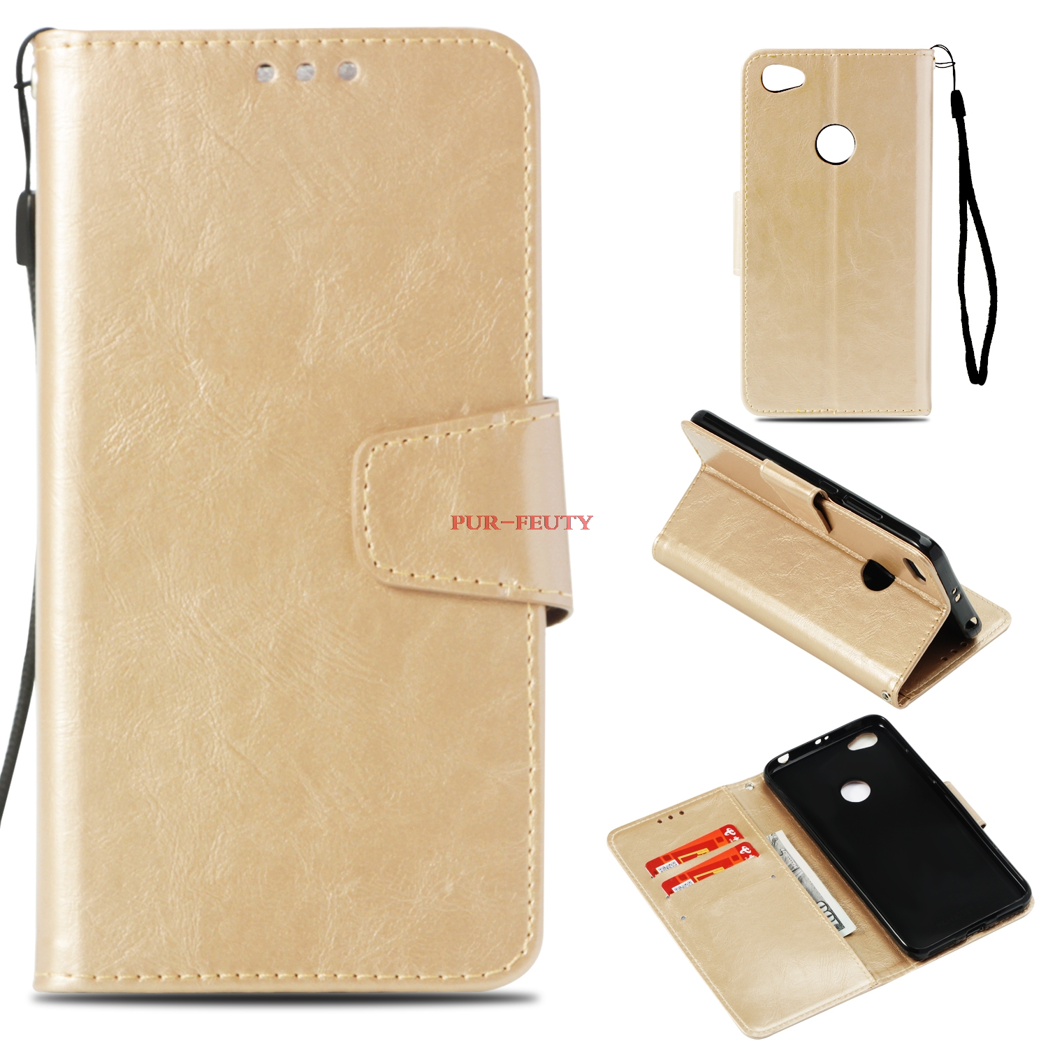 Magnetic Flip Case for Xiaomi Redmi Note 5A Prime Wallet Card Slot Phone Leather Cover for