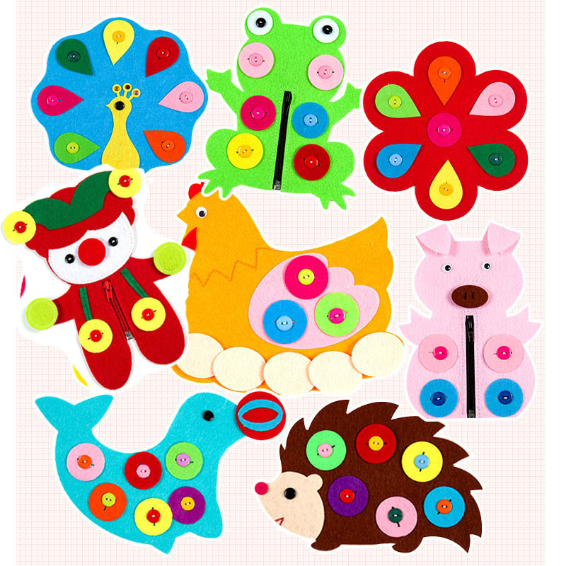 Handmade Cloth Forest Animal Theme Cutting Felt Kindergarten Decor Children Parents Cooperation Trim Ornaments Handmade Felt