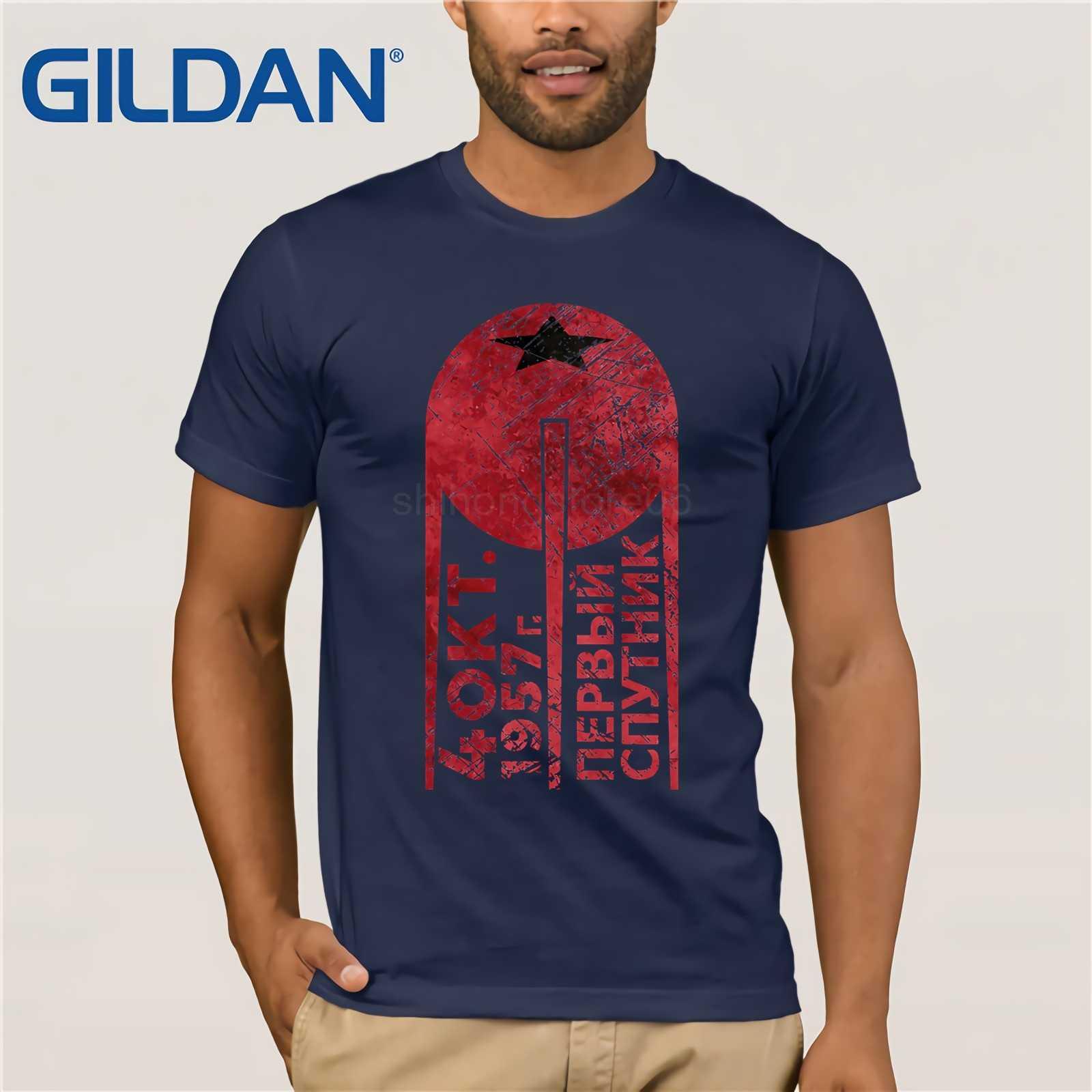CCCP Sputnik 1 первая футболка Satellite-Blood Edition 2019 Летняя мужская футболка с коротким рукавом