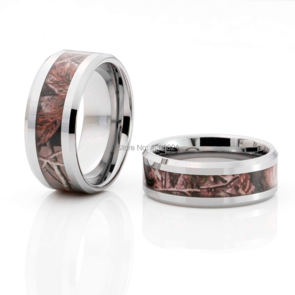 2014 New Style Tree Camo Inlay Tungsten Ring Mens Camo Rings Tungsten Mens Wedding  Ring(