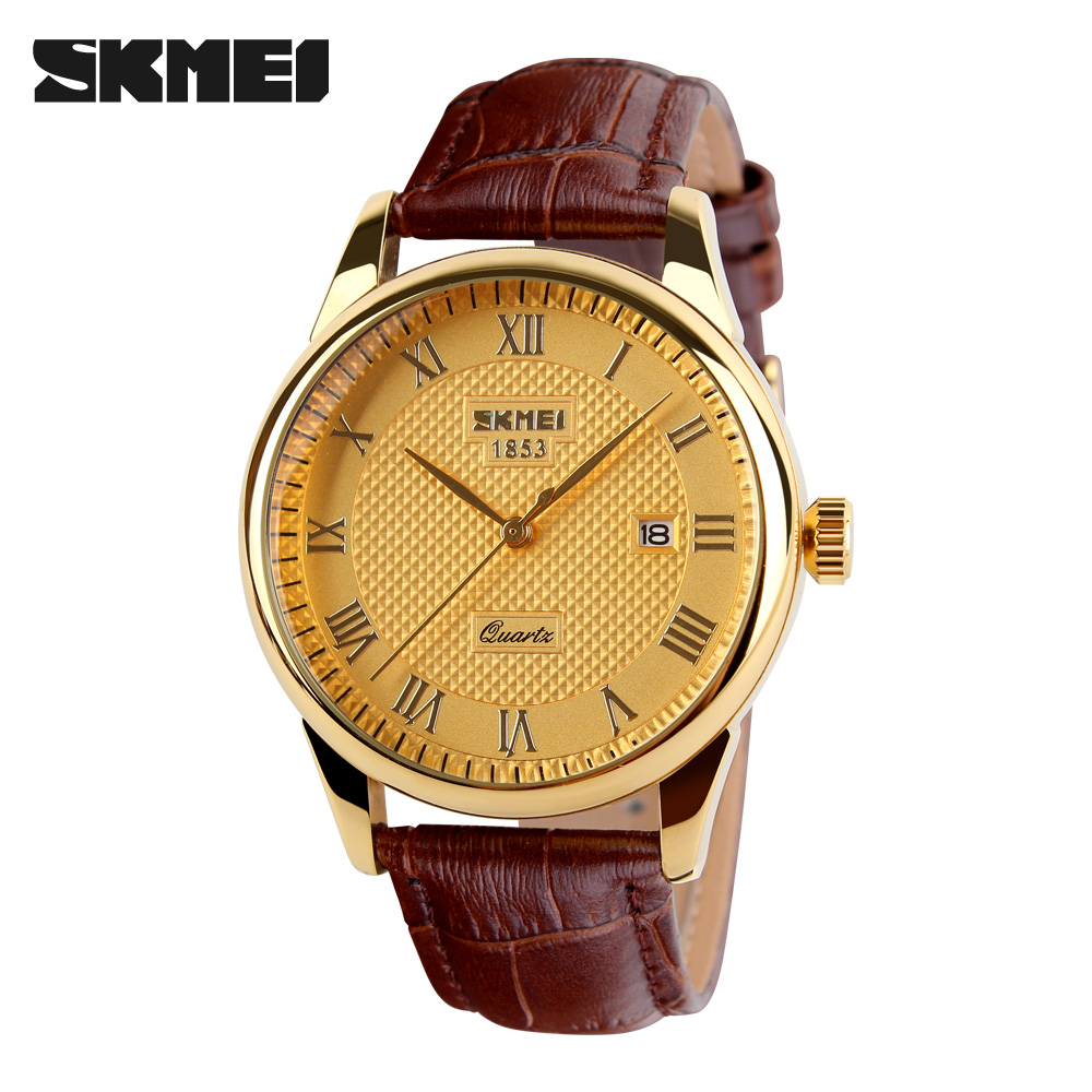 Men Watches Top Brand Luxury Quartz Watch Skmei Fashion Casual Business Watch Man Wristwatches Quartz-Watchs Relogio Masculino 2016 men quartz watch skmei top brand luxury fashion casual watch date male genuine leather sport wristwatches relogio masculino
