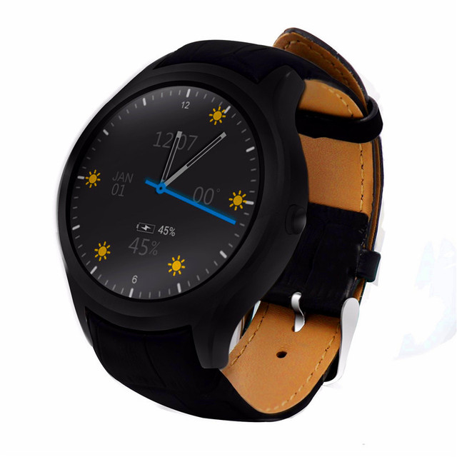 Оригинальный № 1 D5 + 1 ГБ RAM 8 ГБ ROM MTK6580 450 мАч Android 5.1 Wi-Fi Smart Watch Здоровья Сердца Rate Monitor