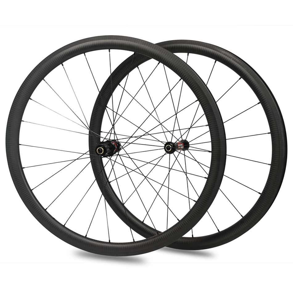 цена на Toray Carbon Shining Bicycle 38 Clincher Aerospoke Rays Wheels Bicicleta Carbono Chinese Road Bike Carbon Wheelset