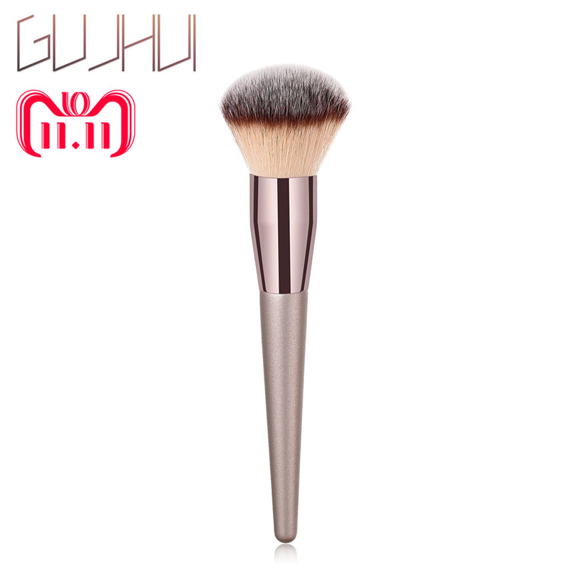 GUJHUI 1PCS Wooden Foundation Cosmetic Foundation Powder Eyeshadow Blush Eyebrow Lip Brush Makeup Brush Sets Tools maquiagem