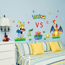Wall Stickers For Kids Room Decorative 3D Pokemon Go Sticker PVC Adesivo De  Parede Removable Cartoon Movie Wall Decals Art Mural Part 74