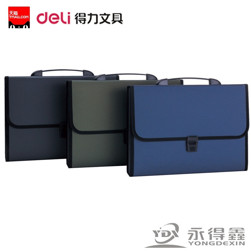 5556 Portable Briefcase A4 Organ Bag 12-grid Multilayer Bill Bag Information Contained In The Classified Folde File Organizer