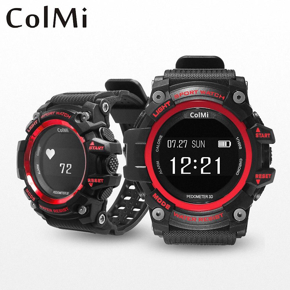 ColMi T1 Fitness Uhr IP68 Pulsmesser Schrittzähler Aktivität Tracker Band Krempe Smart Armband