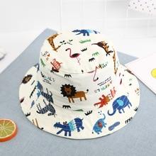 2019 Cotton Cartoon Owl Bucket Hat Kids Fisherman outdoor travel hat Sun Cap Hats for Boys and Girls