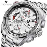PAGANI DESIGN Chronograph Sport Watches Men Luxury Brand Quartz Watch Full Stainless Steel Dive 30M Relogio