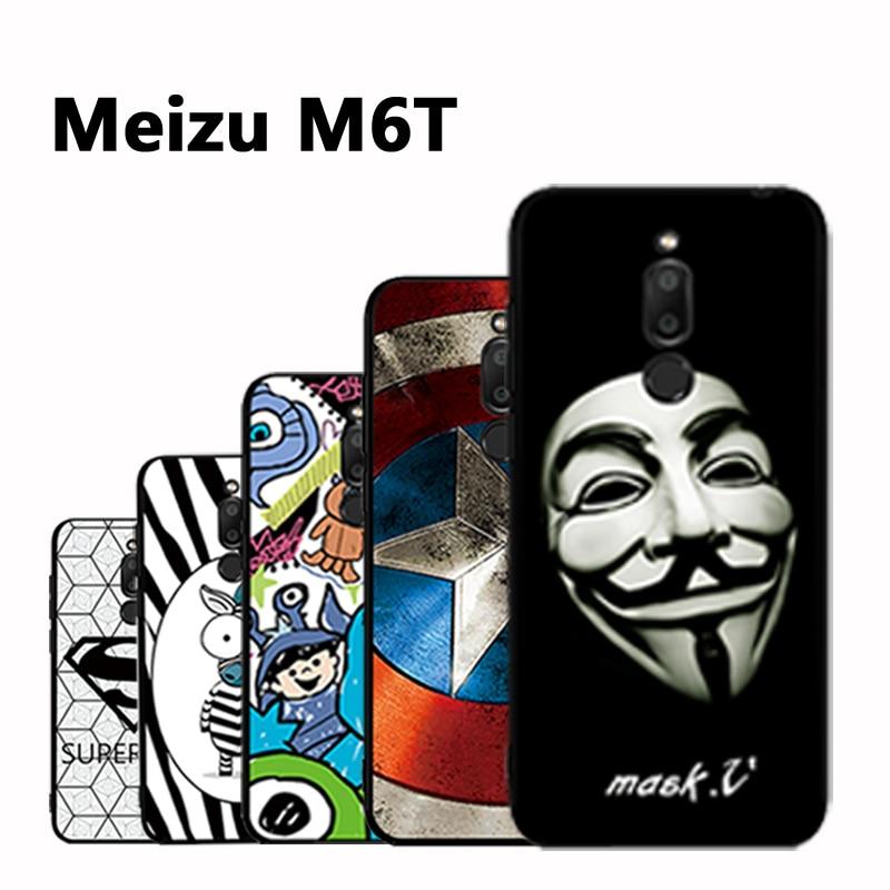 Meizu M6T Case 3D Relief Painting Silicon Case Back Cover For Meizu M6 T cover Cartoon Soft Meizu M 6 T case