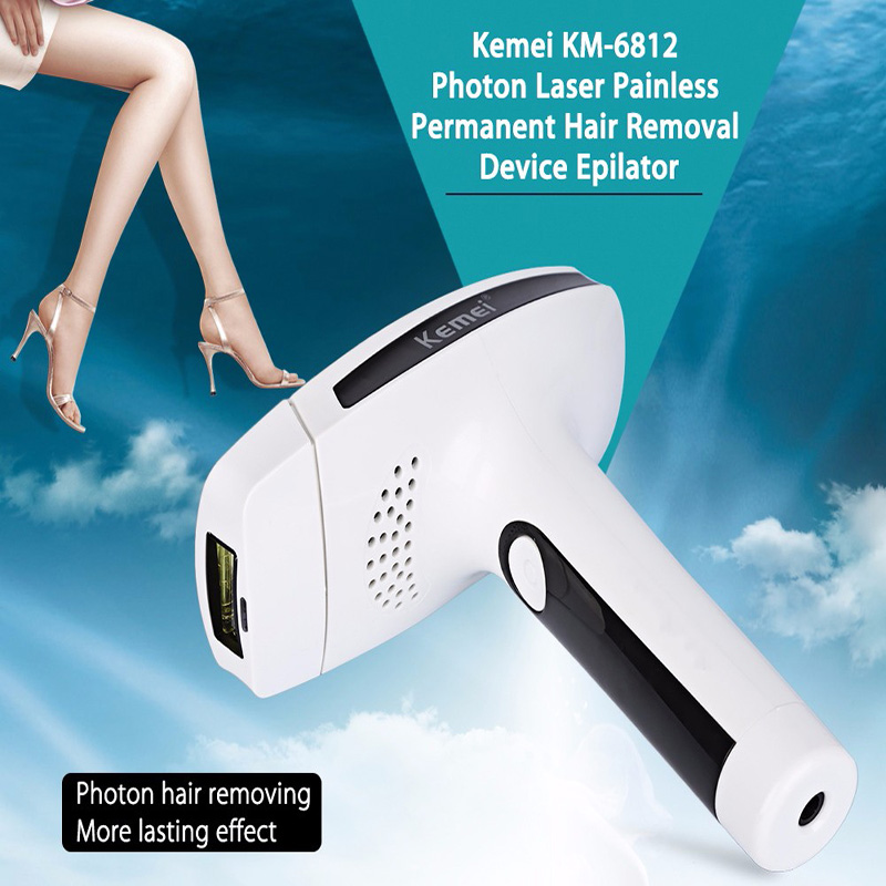Kemei Pro Epilator Lady Photon Laser Epilator Facial Hair Removal Depilatory Shaver Razor Device Face Skin Care Tools For Women best selling most national magic showliss pro blu ray thermal hair removal device epilator