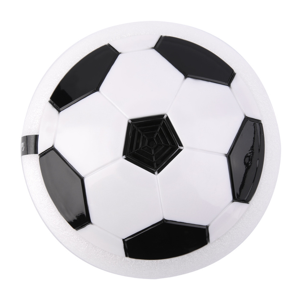OCDAY LED Flashing Football Toys Air Power Soccer Disc Gliding Floating Multi-surface Hovering Football Game Light up Ball Toys
