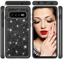 Soft TPU Phone Case For Samsung Galaxy S10e S10Lite S10Plus S10 S9 S8 Note9 A6 Luxury Plating Bling Diamond Silicone Back Cover(China)