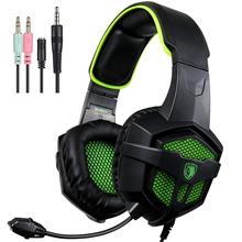 PC Fones De Ouvido Estéreo Gaming Headset Fone de Ouvido Over-Ear Macio Almofada Com Cancelamento De Ruído fones de Ouvido 3.5mm Jack Plug Para Xbox um PS4 Laptop
