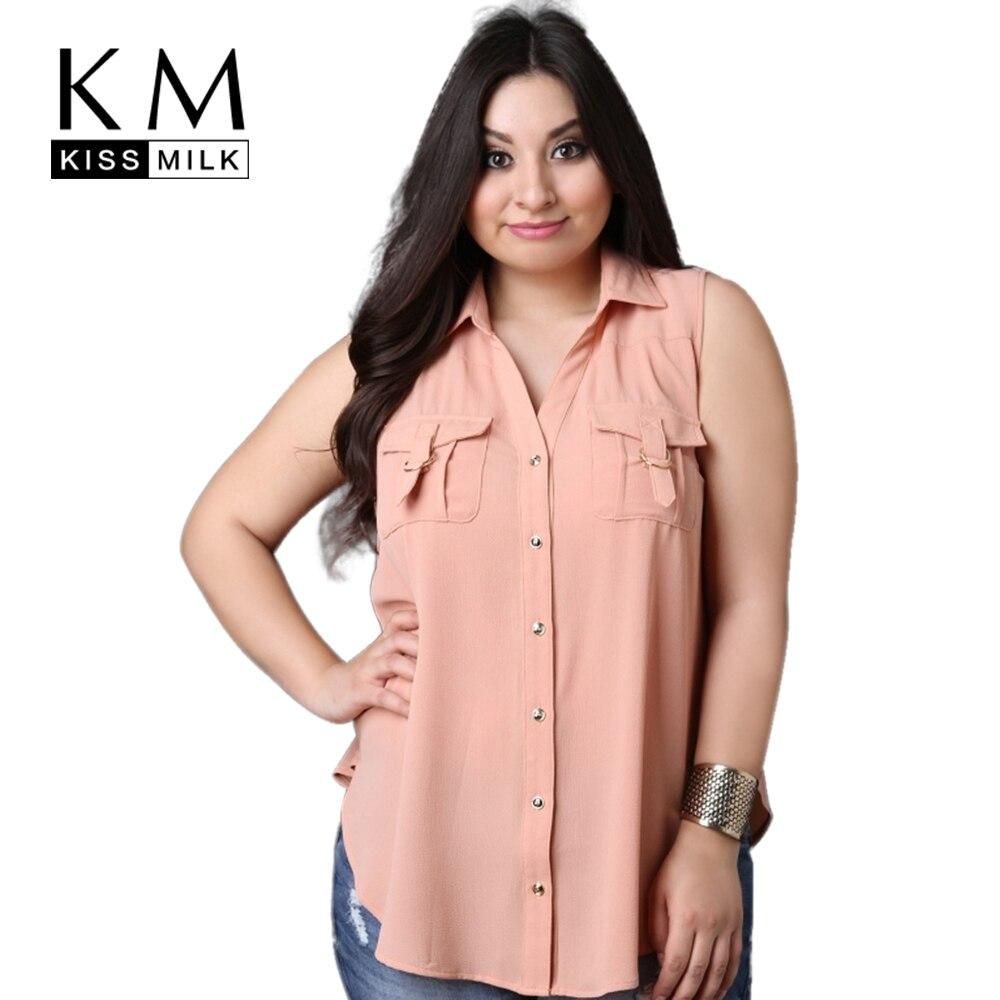 Kissmilk 2017 большой размер дамской одежды clothing повседневная твердые рукавов топы отложным воротником блузка плюс размер блузка 4xl 5xl 6xl