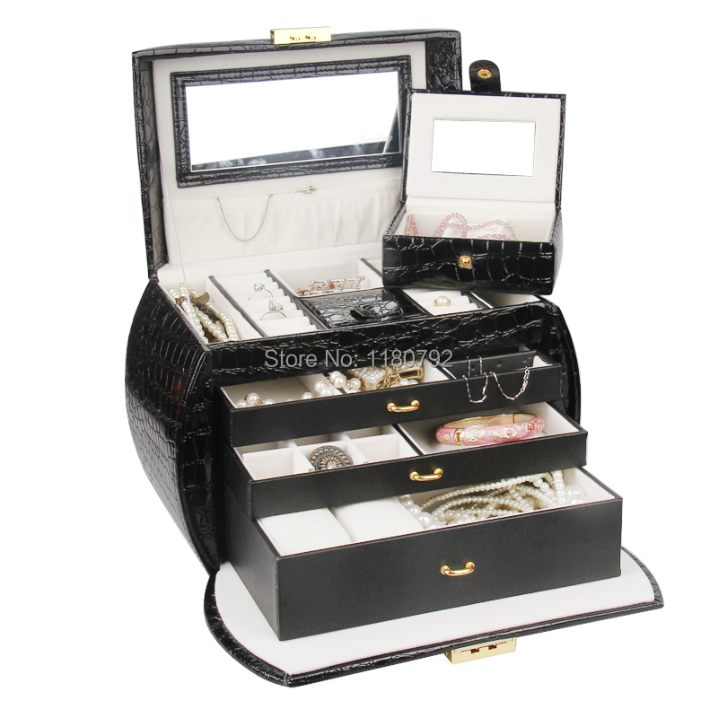 Rowling Extra Large Jewelry Box Beads Bracelets Rings Packaging Box Watch Holder With Coded Lock Pz203 Holder Tray Holder Pocketholder Watch Aliexpress