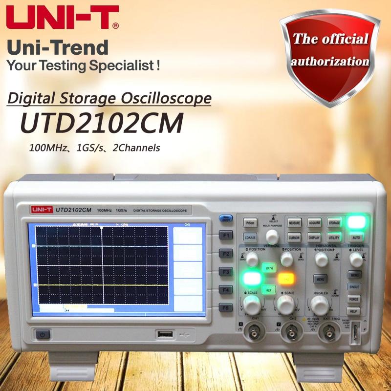 UNI-T UTD2102CM Dual Channel Digital Storage Oscilloscope 100MHz Bandwidth 1GS/s Sample Rate 7