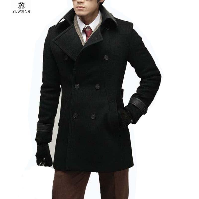 Luxury Mens Wool Winter Jacket Long Woolen Men S Overcoat