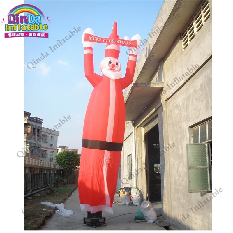 Танцор воздуха высоты 4 м раздувной для рождества, раздувной человек трубки Санта Клауса с свободным Воздуходувкой воздуха
