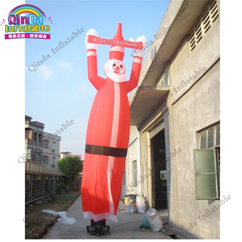 4m height Inflatable air dancer for Christmas ,Inflatable Santa Claus tube man with free air blower4m height Inflatable air dancer for Christmas ,Inflatable Santa Claus tube man with free air blower