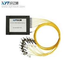 Alta Estabilidad y fiabilidad 1270-1610nm sola fibra 6ch abs caja tipo cwdm mux para amplificador De Fibra Óptica