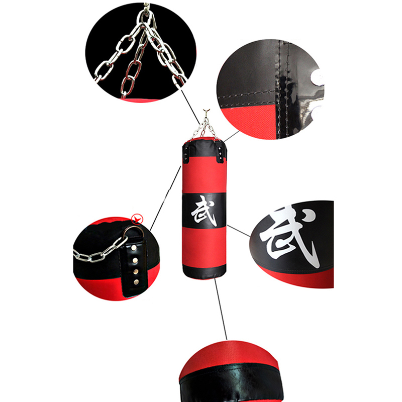 0d54b9450 Fighter Boxing Kit Punching Bag 60cm 120cm Fitness MMA Heavy Bag Bundle Martial  Art Muay Thai Equipment Training Set Gloves Hook-in Martial Arts from Sports  ...