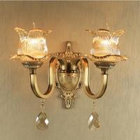 латунный настенный светильник Европейский стиль промышленных настенный светильник cooper Настенные Бра Гостиная Ванная комната, зеркало, лам