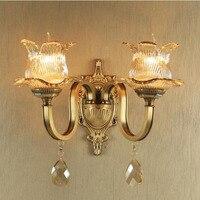Europäischen stil industrielle wandleuchte cooper wandleuchten wohnzimmer badezimmer spiegel lampe schlafzimmer nachttischlampen kristall leseleuchten-in Wandleuchten aus Licht & Beleuchtung bei