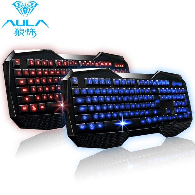 Free shipping Luminous backlit keyboard tarantula wired usb keyboard dota gaming keyboard mouse pad