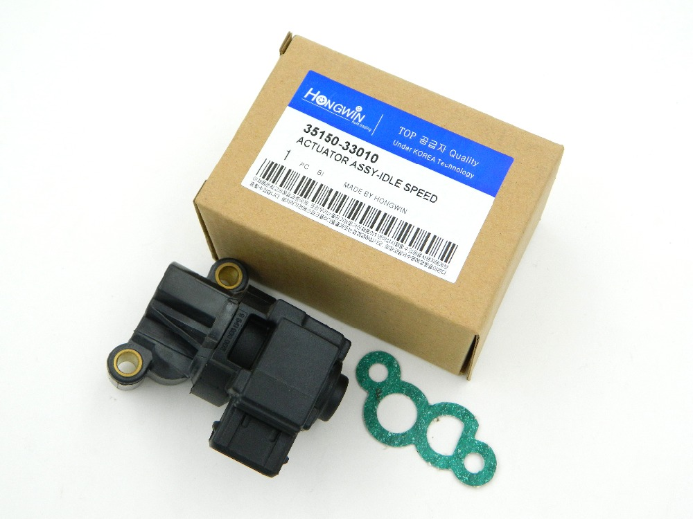 IDLE AIR CONTROL VALVE For Hyundai for Kia 2.4 2.5 2.7L 1999-2010 35150-33010/0280140571/35150 33010/3515033010/0k9A2-20660A dsfvw003 idle air speed control valve iac 034133455 35150 22000 0280140505 for vw gold jetta audi hyundai