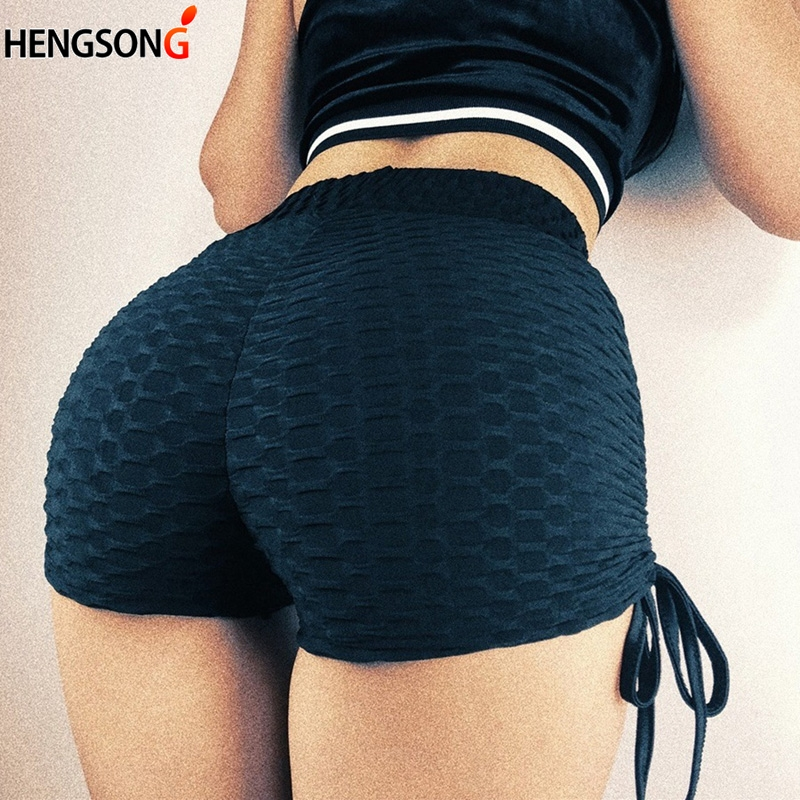 Fashion Jacquard Candy Colors Shorts Women Fitnes Slim Fit Outer Wear Shorts Straps Style Hem Thin Skinny Short