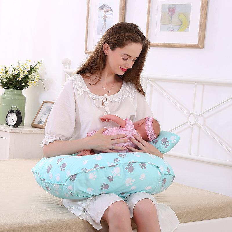 Breastfeeding Cushion Breastfeeding Pillows Baby Head Protection Nursing Pillow U-Shaped Infant Cuddle Pillow for Baby Feeding