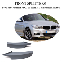 Auto Car front Bumper splitter lip apron For BMW F34  GT M Sport M Tech Bumper Only 13-15 FRP Unpainted Primer