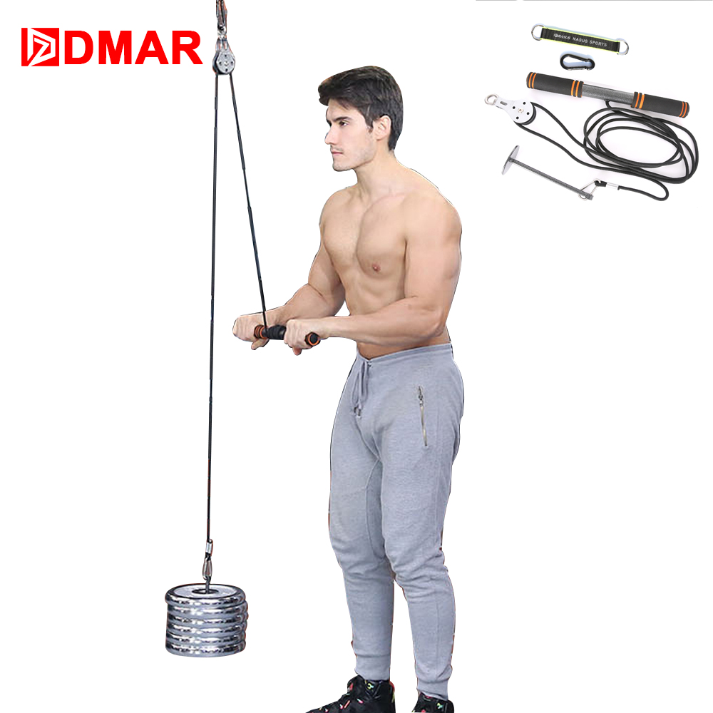 DMAR Hand Gripper Strengths Fitness Arm Biceps Triceps Blaster Power Stick Pull Rope Wrist Roller Forearm Workout Trainning image
