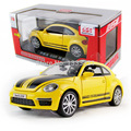 VW GSR limited edition new jiaye beetle 1:32 Pull Back Acousto-optic Alloy Antique racing Cars Model children toy in gift box