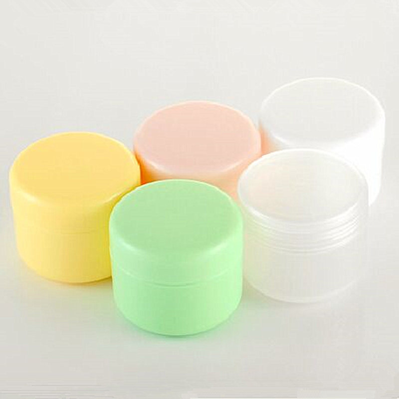 10g/20g/50/100g Refillable Bottles Plastic Empty Makeup Jar Pot Travel Face Cream/Lotion/Cosmetic Container 10pcs 5g cosmetic empty jar pot eyeshadow makeup face cream container bottle acrylic for creams skin care products makeup tool