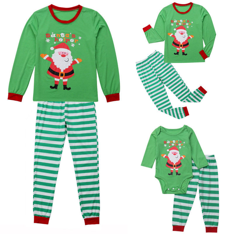 Family Matching Christmas Clothes Dad Mom Kids Pajamas Set Women Men ... d42ede8dd