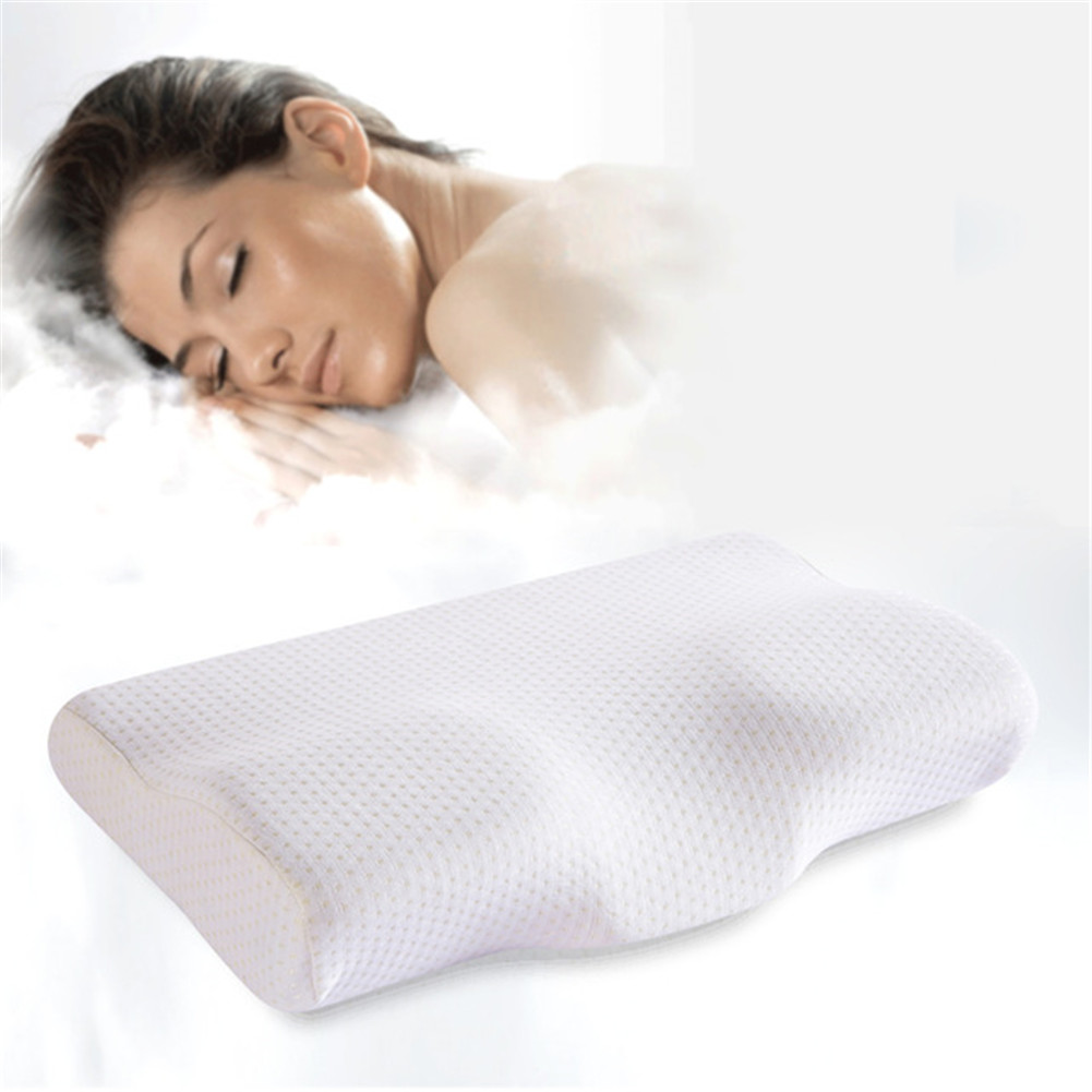 umiss memory foam adult cervical pillows shaped for sleep butterfly slow rebound body anti snore bedding sleeping pillow