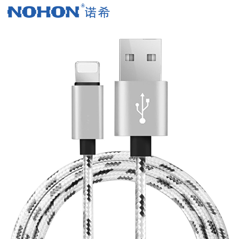 US $0 42 35% OFF|NOHON Fast Charger Data Cable For Apple iPhone XR XS MAX 8  7 6S 5S Plus Ipad Mini IOS 10 11 12 Phone Charging Sync Nylon Cables-in