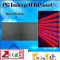 Поддержка завода Оптовая Цена Крытый P6 СВЕТОДИОДНЫЙ Дисплей Модуль 384*192 мм, 64x32 пикселей/прокрутка СВЕТОДИОДНЫЙ знак p6 светодиодный экран ПАНЕЛИ