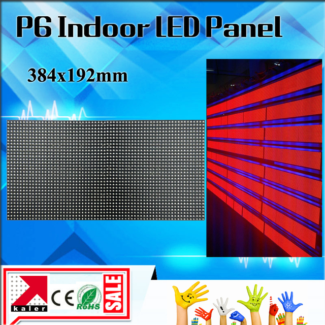 TEEHO Factory Wholesale Price Indoor LED P6 Display Module 384*192mm, 64x32  pixels / scrolling sign p6 led screen PANEL