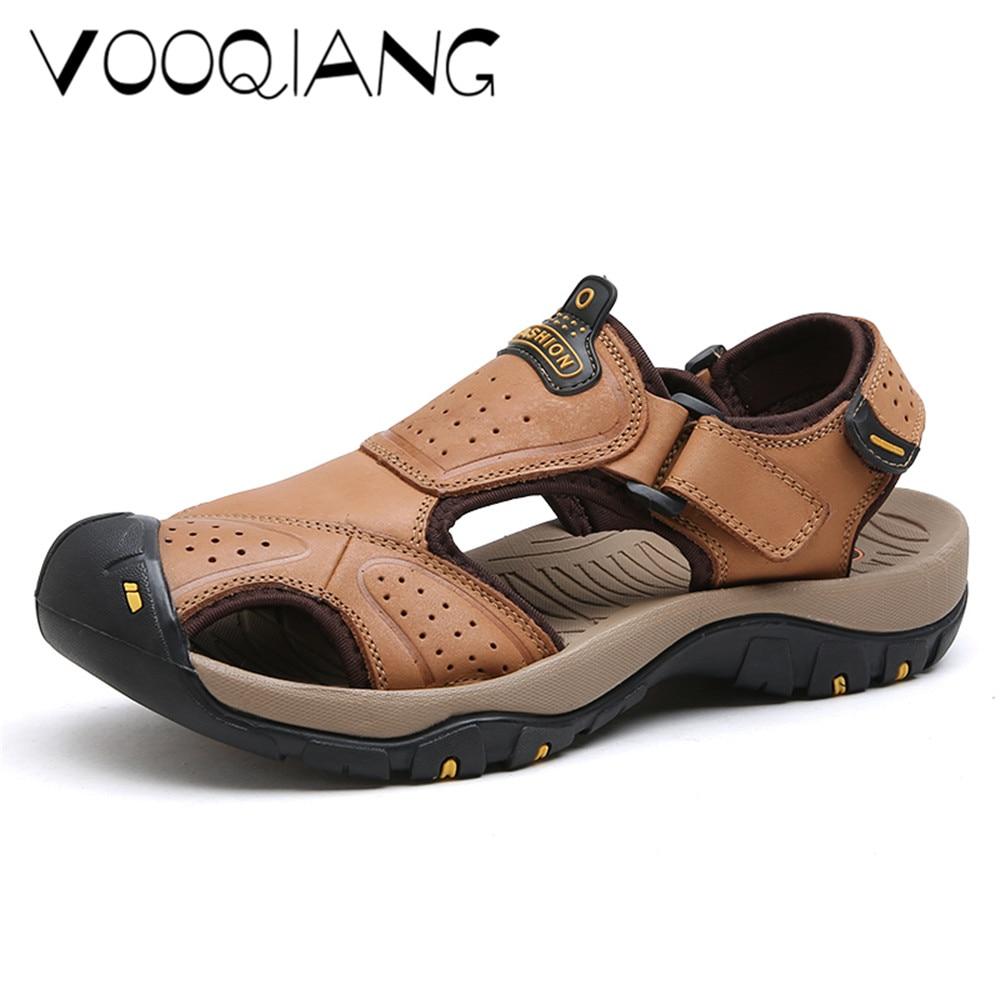 Fashion Man Beach Sandals 2018 Summer Gladiator Men's Outdoor Shoes Roman Men Casual Shoe Flip Flops Large Size 47 slippers Flat