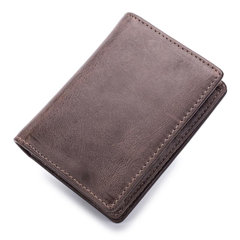 3PCS/Lot Wholesale Men Wallets Business Card Holder Retro Minimalist Coin Purse Women Wallets