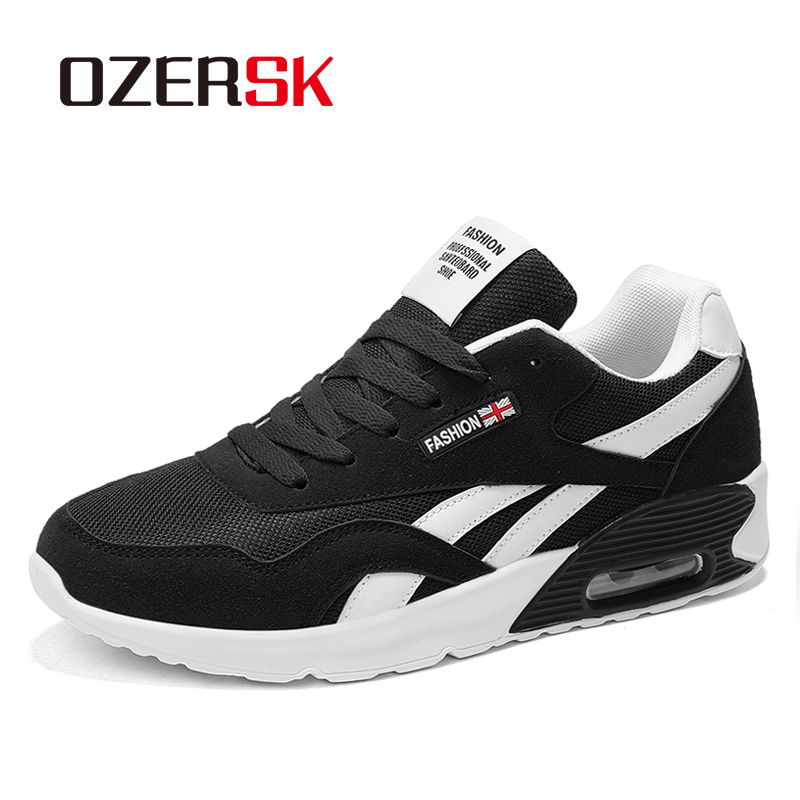 OZERSK Hot Men Shoes Casual Black Sneakers Men Tenis Masculino Adulto Mens Trainers Air Cushion Sneakers Leisure Shoes Woman