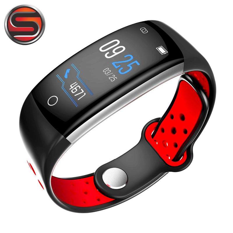 SOVOGU B03 Smart bracelet heart rate monitor Blood Pressure Fitness Tracker smartband color screen sport Q6 smart wristband fashion women color screen smart band wristband heart rate blood pressure monitor fitness bracelet tracker smartband pedometer